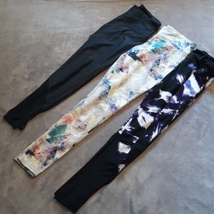 3 pairs of women's size M running leggings